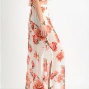 SMYM • Sullens Maxi Skirt Rose Print